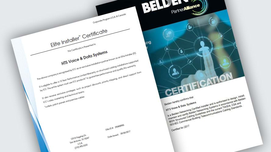 Belden Installer Certification Book