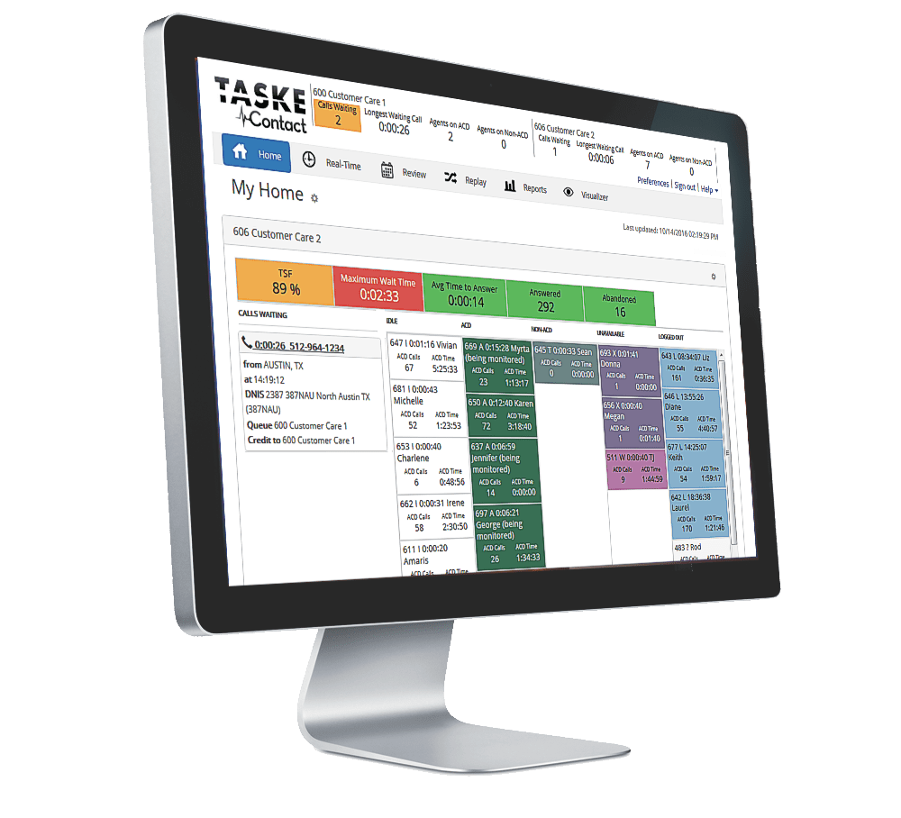 Taske Essentials Call Management Screen